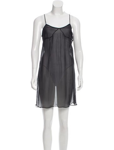 Stella McCartney Sleeveless Semi-Sheer Silk Dress w/ Tags None