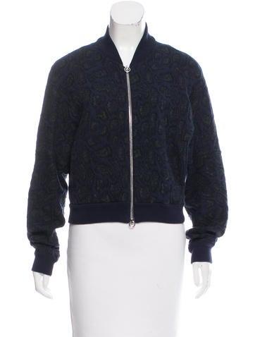 Stella McCartney Knit Jacquard Bomber Jacket None