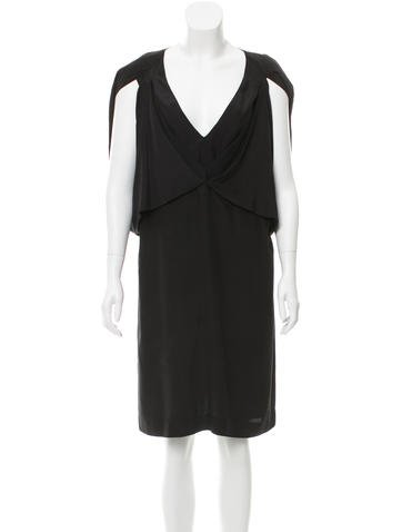 Stella McCartney Draped Silk Dress None