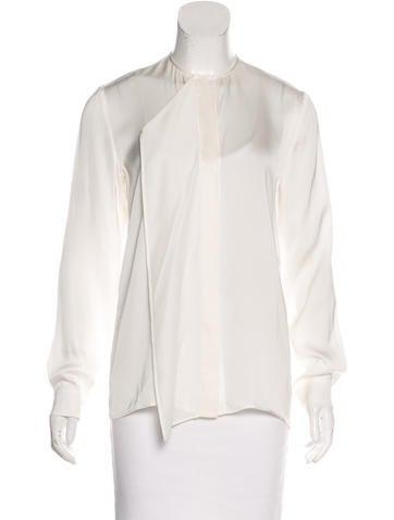 Stella McCartney Silk Button-Up Blouse w/ Tags None