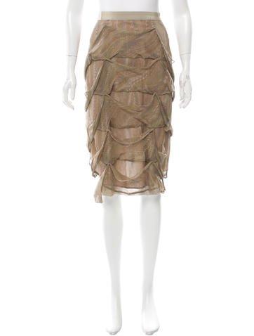 Stella McCartney Draped Printed Skirt None
