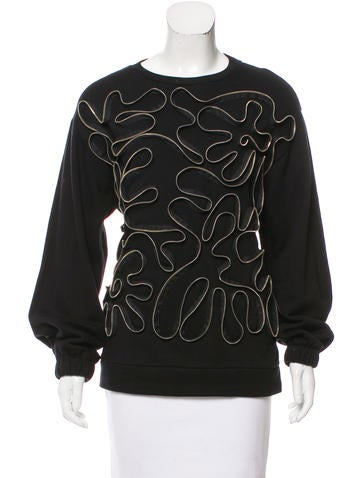 Stella McCartney Zipper-Accented Long Sleeve Sweatshirt w/ Tags None