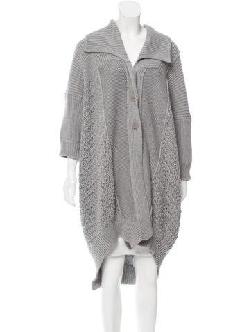 Stella McCartney Longline Open Knit Cardigan None