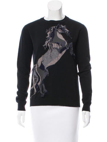 Stella McCartney Wool Horse Sweater None