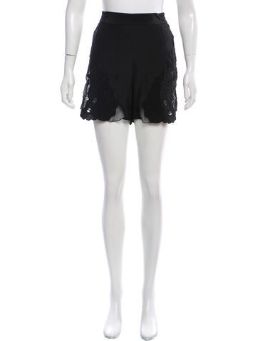 Stella McCartney Embroidered Silk Shorts w/ Tags None