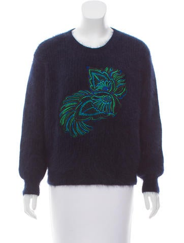 Stella McCartney Embroidered Angora Sweater None