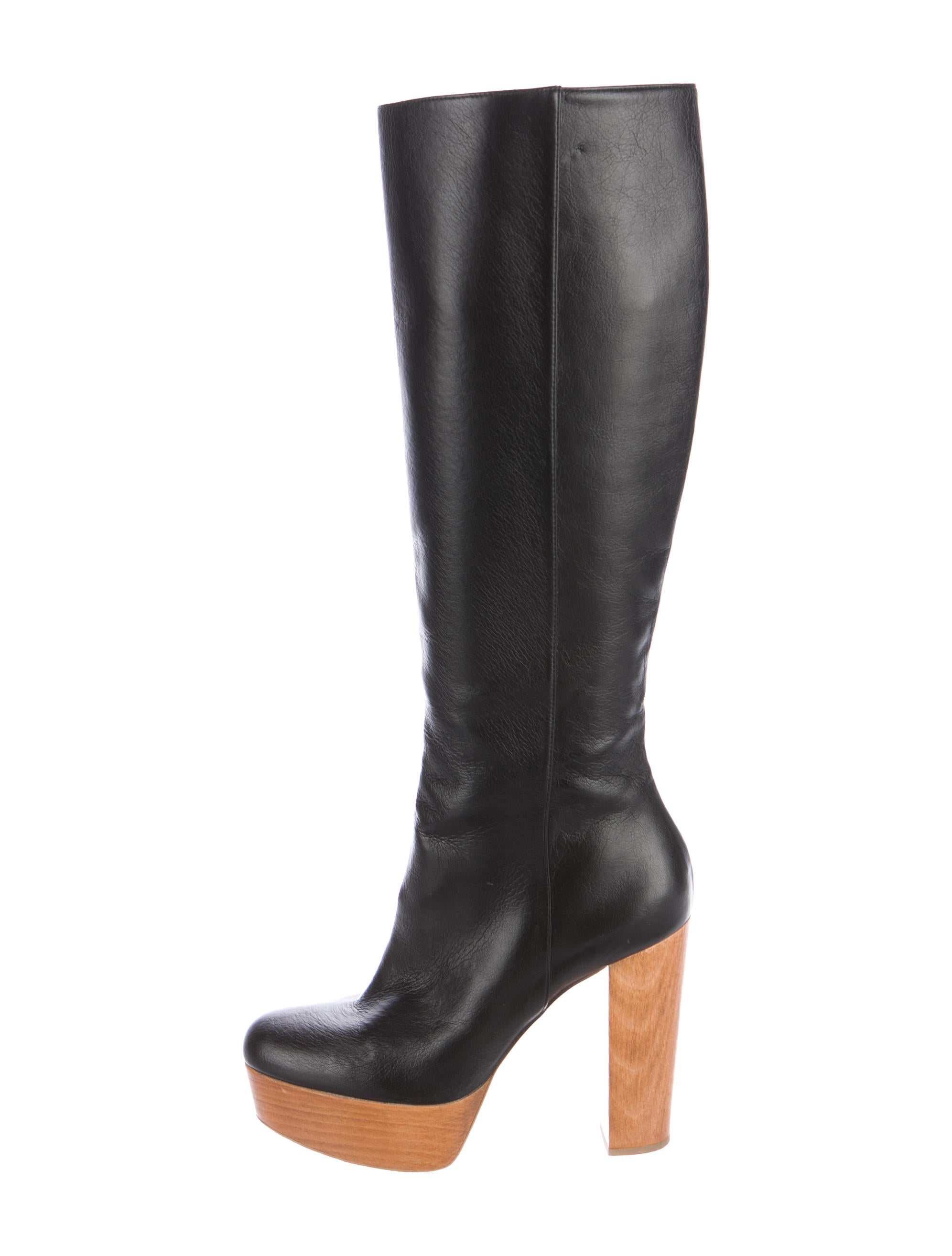 stella mccartney vegan leather platform boots shoes