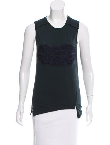 Stella McCartney Embroidered Sleeveless Top w/ Tags None