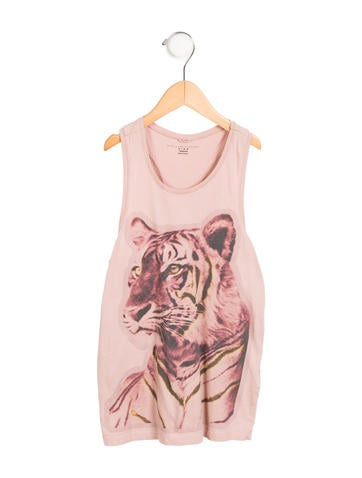 Stella McCartney Girls' Sleeveless Graphic Top None