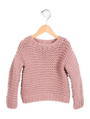 Stella McCartney Girls' Wool Open Knit Sweater None