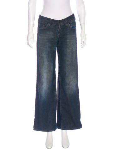 Stella McCartney Coated Mid-Rise Jeans None