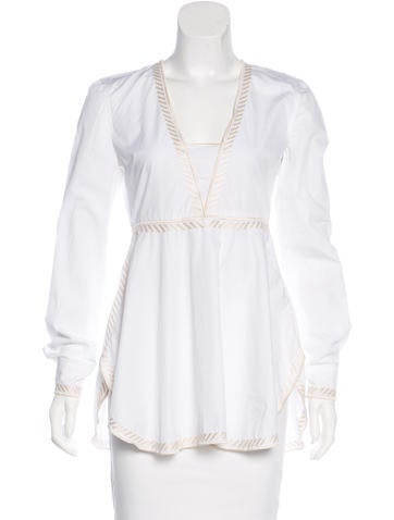 Stella McCartney Embroidered Woven Top None