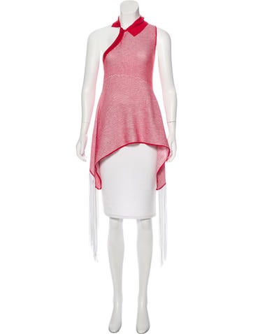 Stella McCartney Off-The-Shoulder Sleeveless Top None