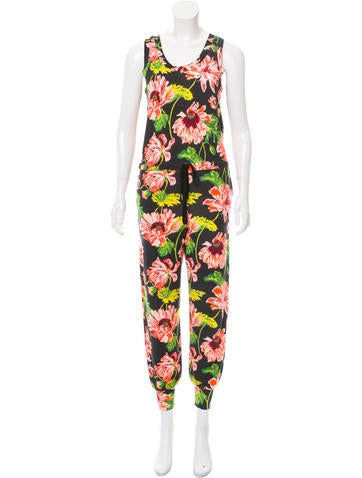 Stella McCartney Floral Print Wool Jumpsuit None