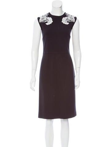 Stella McCartney Embroidered Midi Dress None