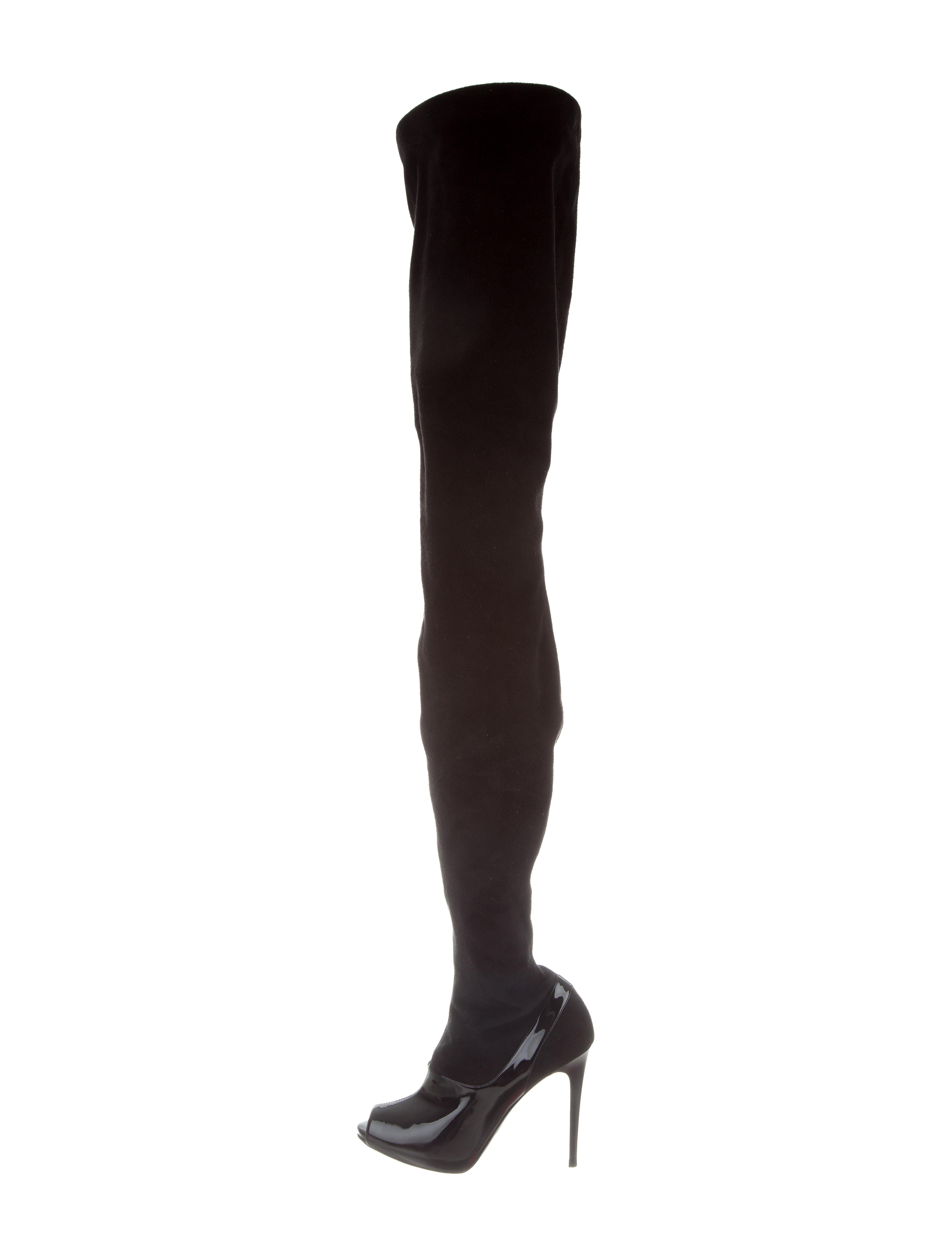 stella mccartney vegan suede thigh high boots shoes