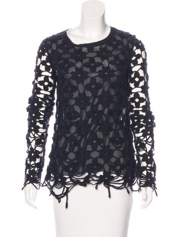 Stella McCartney Wool Crochet Top None
