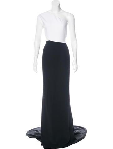 Stella McCartney 2015 One-Shoulder Evening Dress None