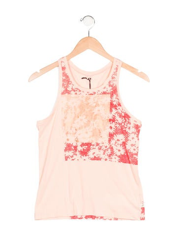 Stella McCartney Girls' Floral Print Sleeveless Top w/ Tags None