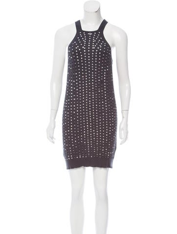 Stella McCartney Embellished Rib Knit Dress None