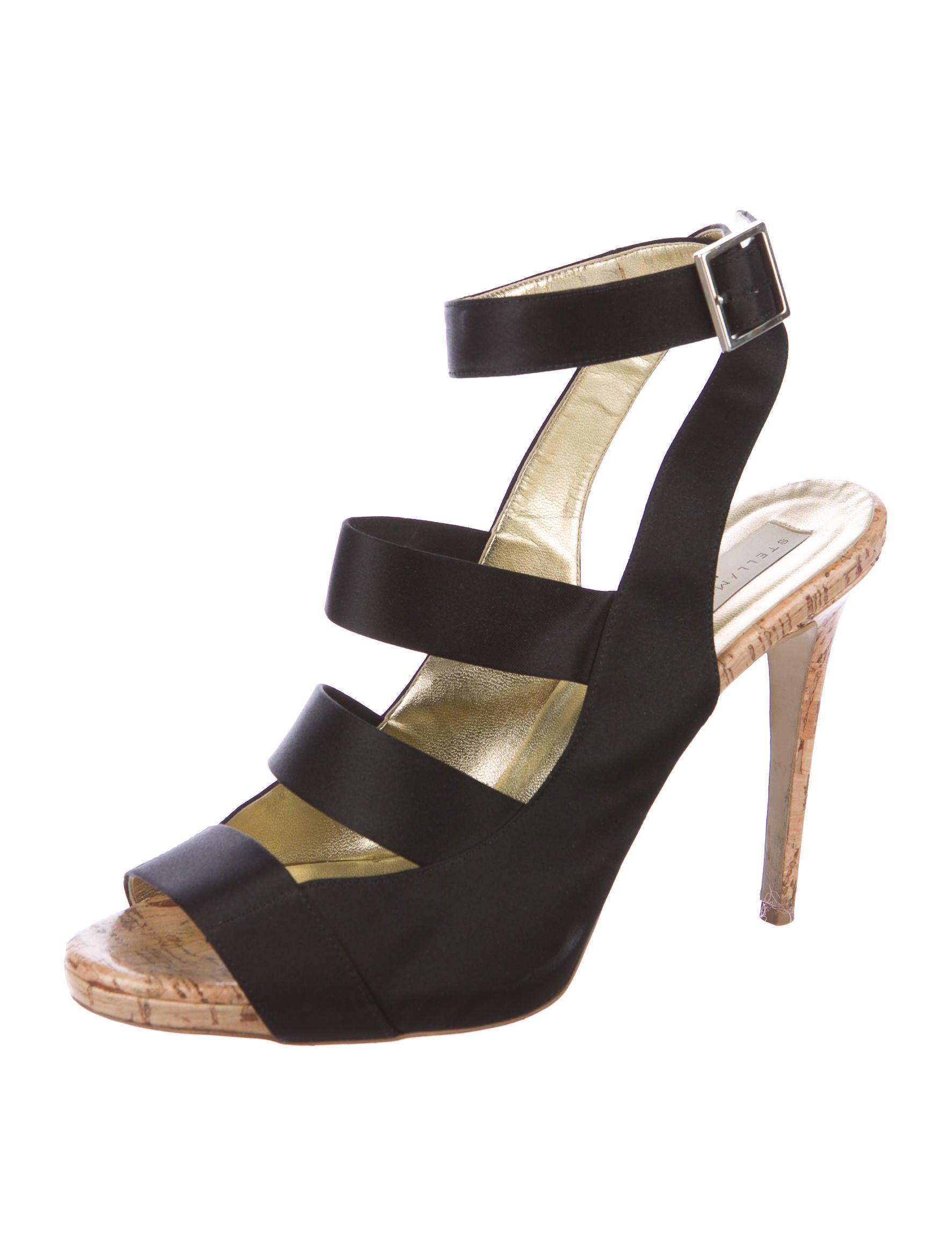 official sale online Stella McCartney Multistrap Satin Sandals huge surprise cheap price collections ta5nMEk0mM