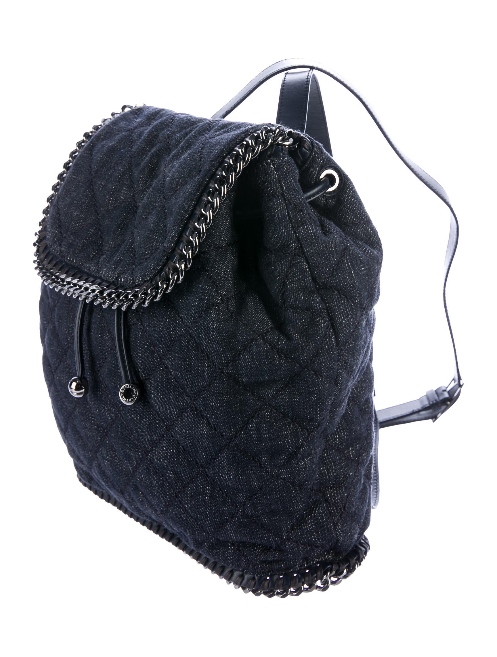 stella mccartney denim falabella rucksack handbags stl56743 the realreal. Black Bedroom Furniture Sets. Home Design Ideas