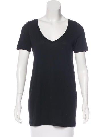 Stella McCartney V-Neck Short Sleeve T-Shirt None