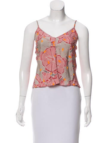 Stella McCartney Floral Silk Top None