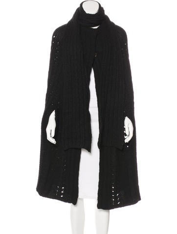 Stella McCartney Camel & Wool Cable Knit Cape w/ Tags None