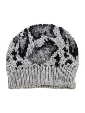 Stella McCartney Intarsia Knit Wool Beanie w/ Tags None