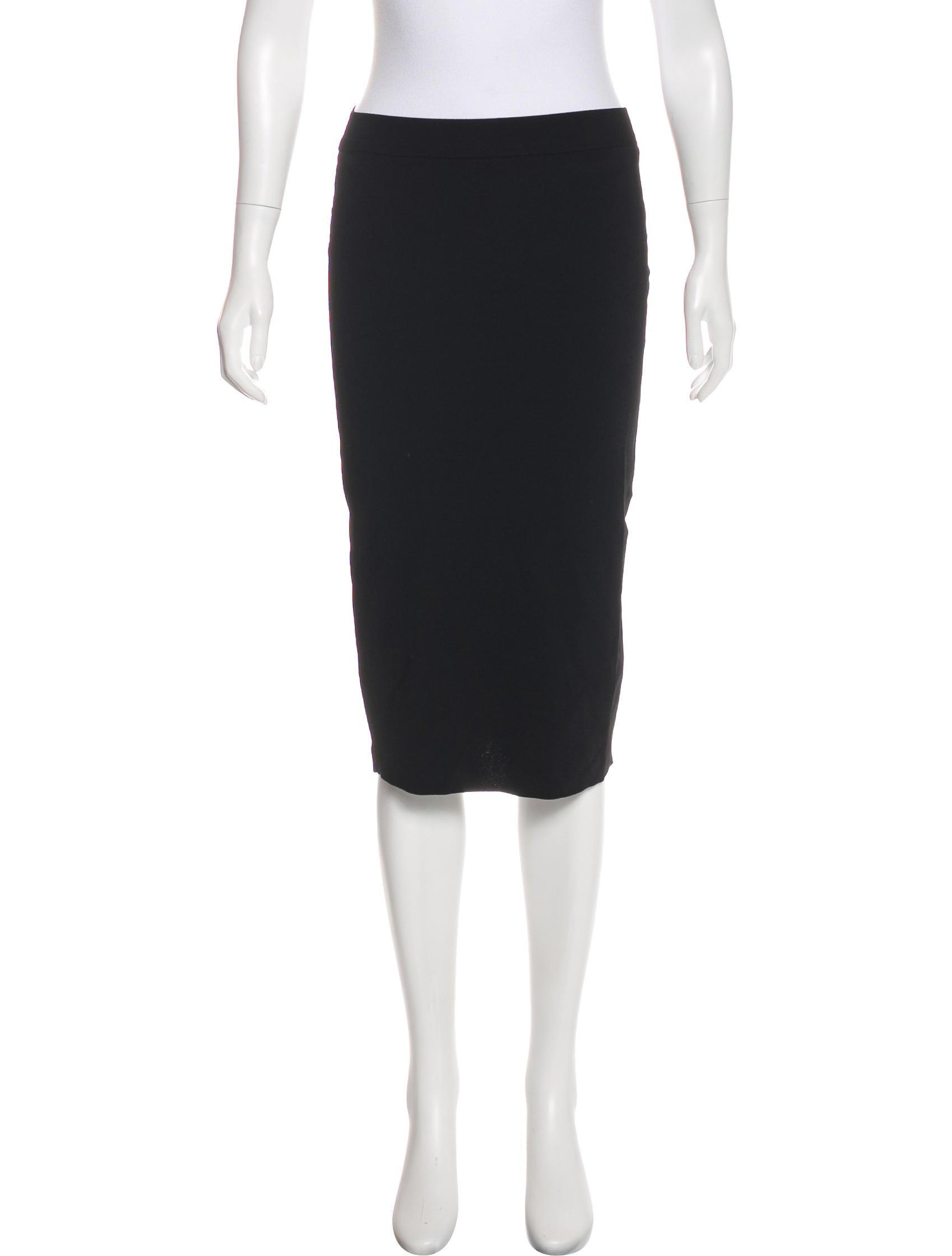stella mccartney knee length bodycon skirt clothing