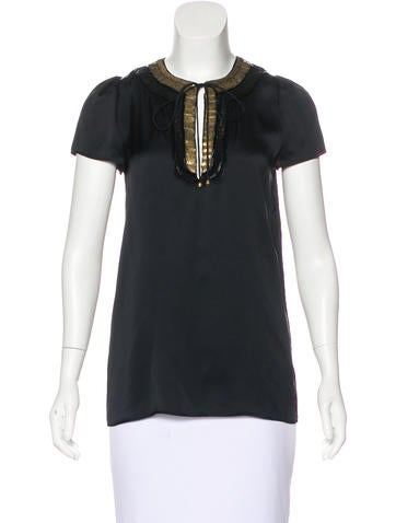 Stella McCartney Silk Embellished Top w/ Tags None
