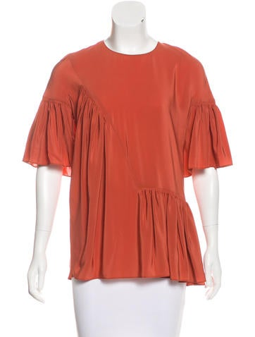 Stella McCartney Silk Pleated Top w/ Tags None