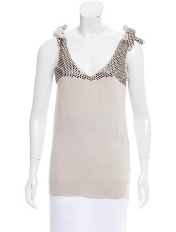 Stella McCartney Wool Embellished Top None
