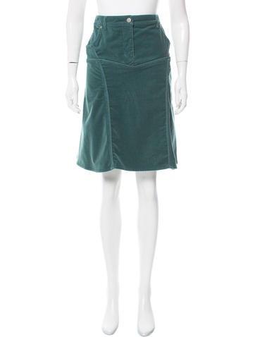 stella mccartney knee length corduroy skirt clothing