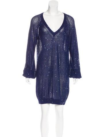 Stella McCartney Embellished Sweater Dress None