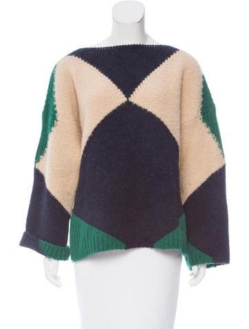 Stella McCartney Wool & Alpaca-Blend Patterned Sweater None