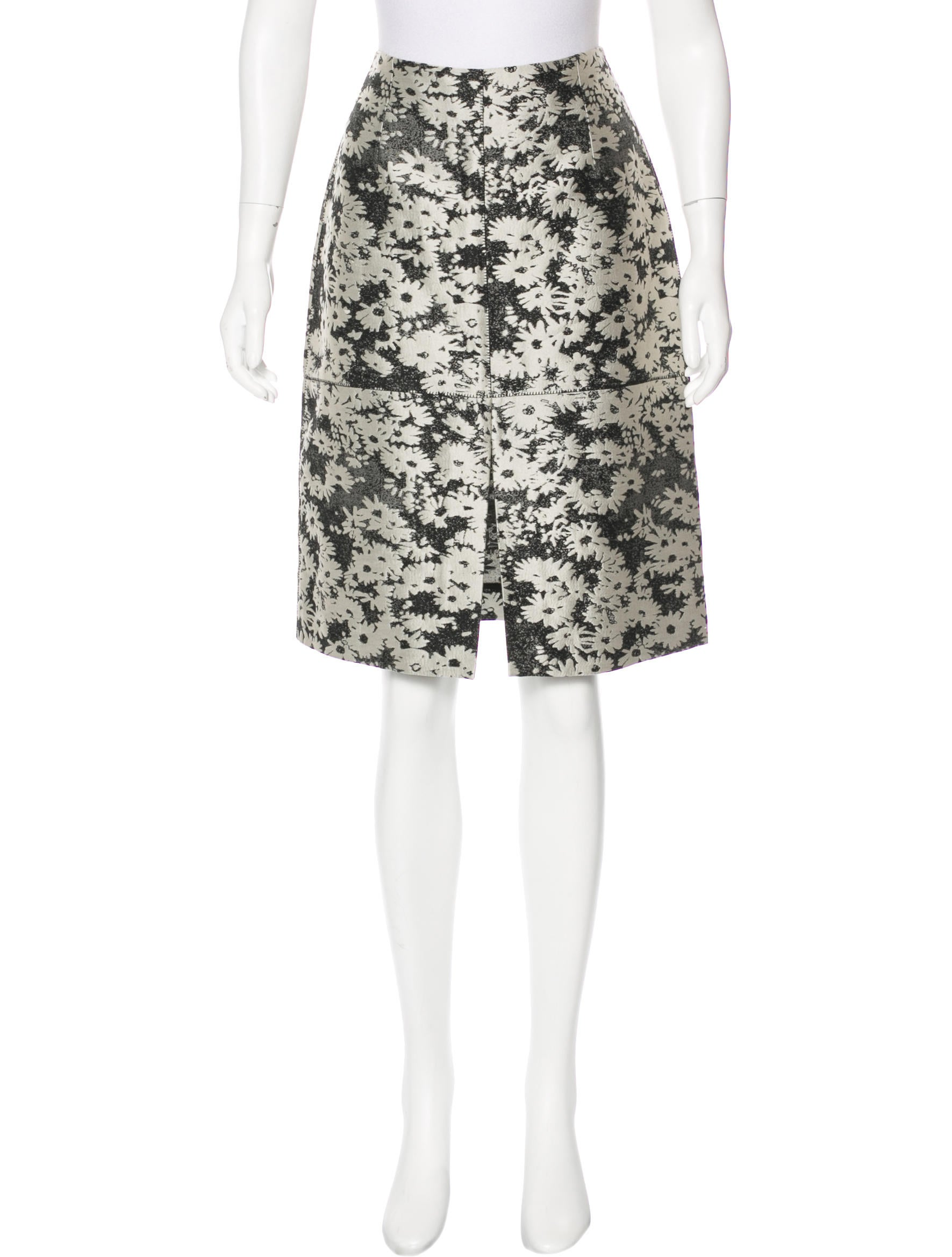 stella mccartney jacquard pencil skirt clothing
