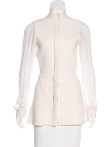 Stella McCartney Long Sleeve Button-Up Top None