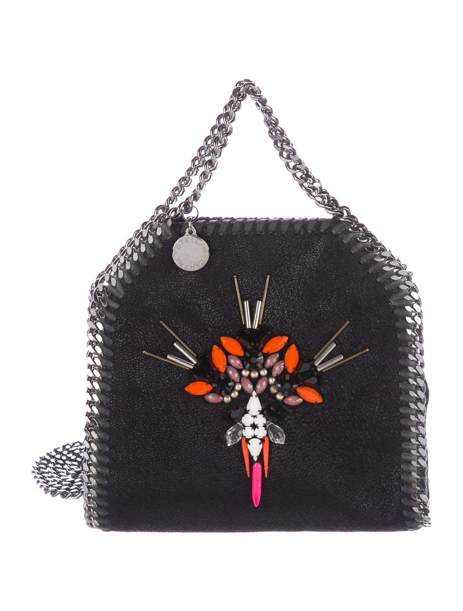 0ea00043d385 Stella McCartney Stella McCartney Embellished Shaggy Deer Falabella Mini  Crossbody Bag