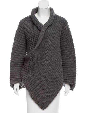 Stella McCartney Draped Wool Cardigan None
