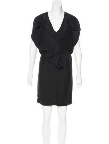 Stella McCartney Silk Draped Dress None