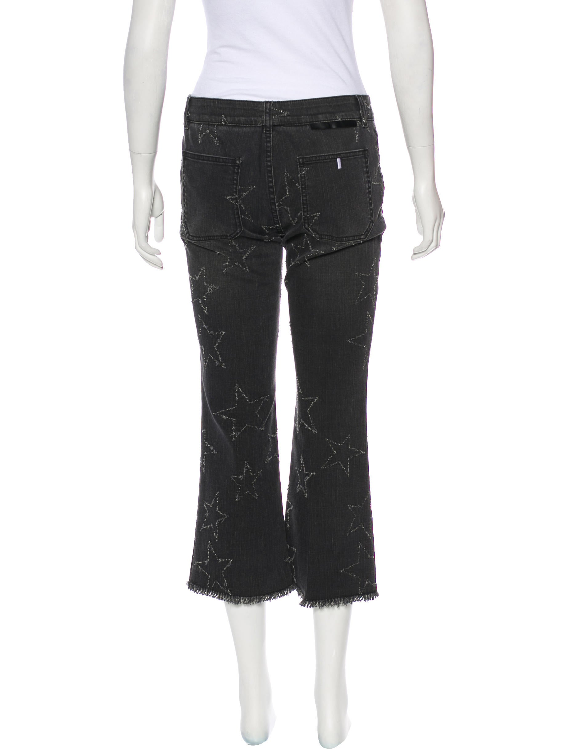 Stella McCartney Star Embroidered Mid-Rise Jeans - Clothing - STL58513 | The RealReal