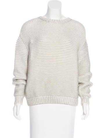 Stella McCartney Metallic Oversize Sweater None