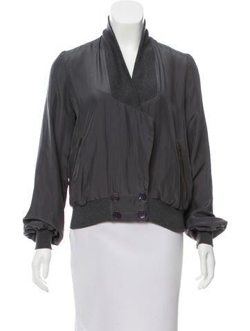 Stella McCartney Silk Knit-Trimmed Jacket None