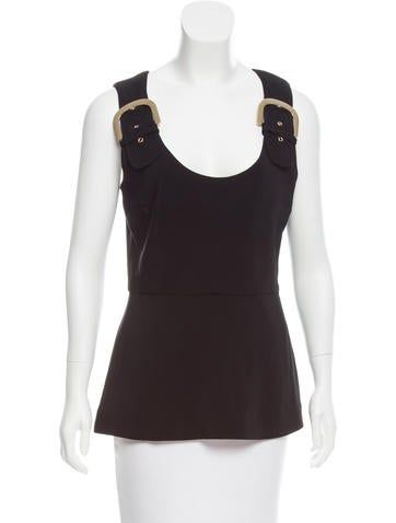 Stella McCartney Sleeveless Buckle-Accented Top None
