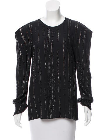 Stella McCartney Embellished Silk Top None