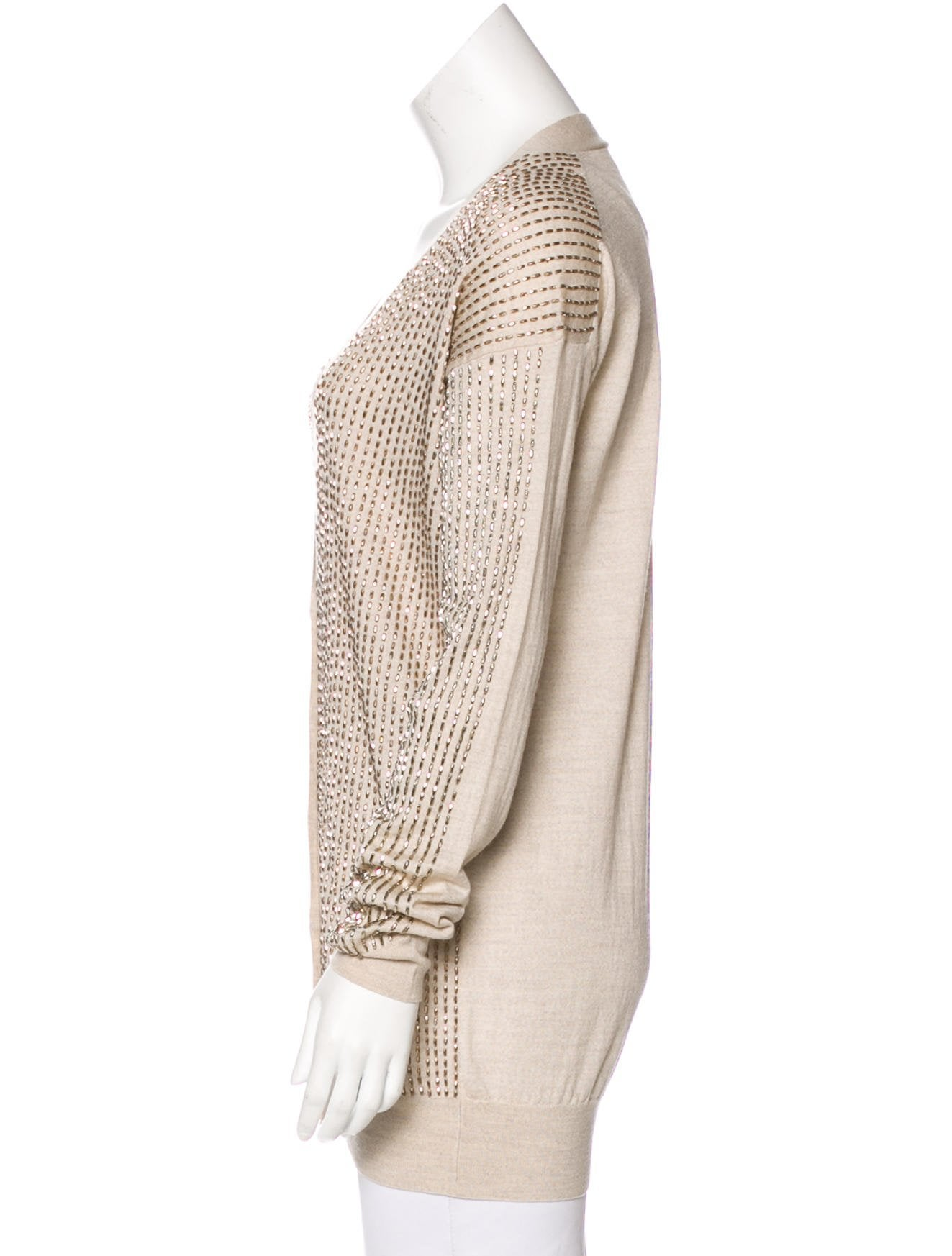 Stella McCartney Wool & Silk Beaded Cardigan - Clothing - STL59359 ...