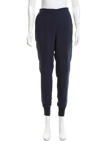 Stella McCartney Knit-Accented High-Rise Joggers None