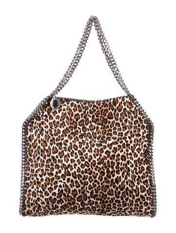 Stella McCartney Leopard Print Falabella Small Tote None